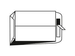 Faltentasche fadenverstärkt | DIN B4