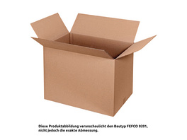 Faltkarton 260 x 260 x 180 mm | FEFCO 0201