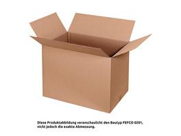Faltkarton mit Höhenriller 430 x 305 x 230 mm | FEFCO 0201