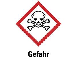 GHS-Gefahrstoffetiketten aus PE-Folie