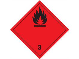 Gefahrgutetiketten Kl. 3