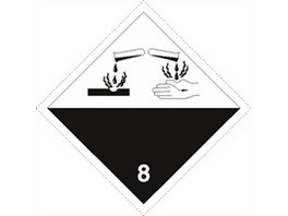 Gefahrgutetiketten Kl. 8