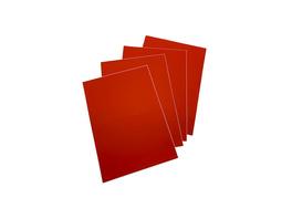 Rote LCI-Etiketten | rund