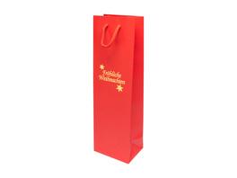 Weihnachts-Flaschentasche rot